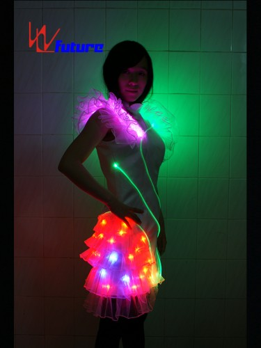 Beautiful Sexy White LED Dress Costume for Girl Party Event WL-042
