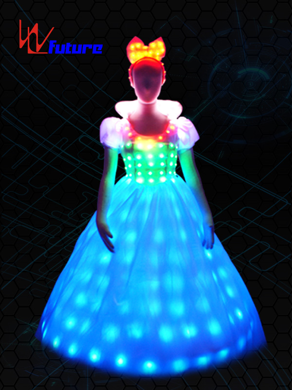 High definition Led Costumes China - Neon Led Wedding Costume,Princess Led Prom Dress For Party WL-055 – Future Creative