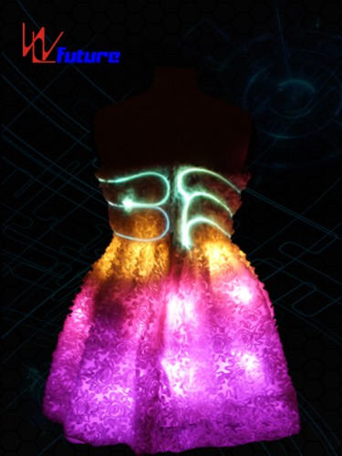 Neon light Evening Dress Costume LED Clothing For Party WL-07