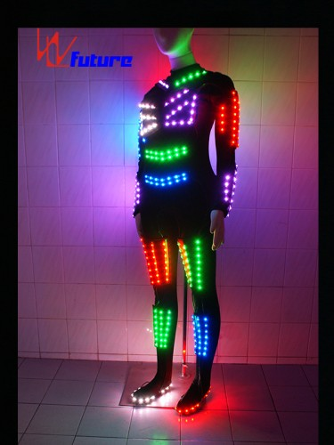 Spandex skinny LED clothes glowing costume for show WL-069