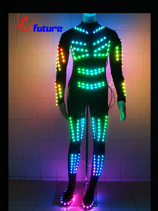 Spandex skinny LED clothes glowing costume for show WL-069 Featured Image