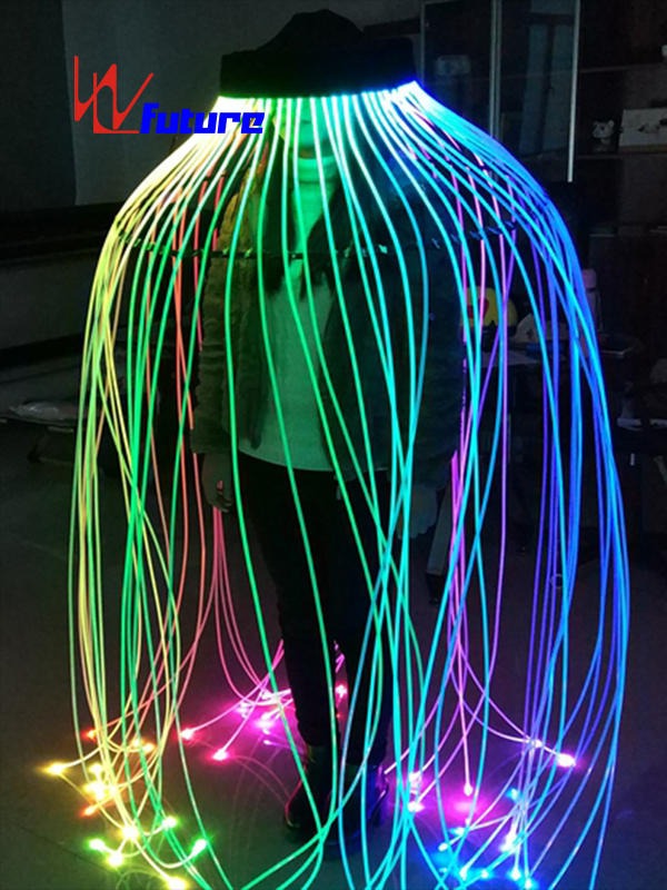Original Factory Led Clothing Accessories - Luminous fiber optic jelly fish props for dance stage show WL-1001 – Future Creative