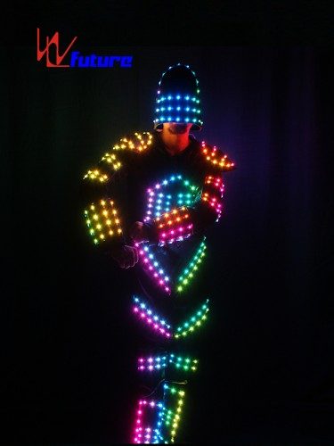 Robocop LED Tron Dance Costume with Helmet WL-0129