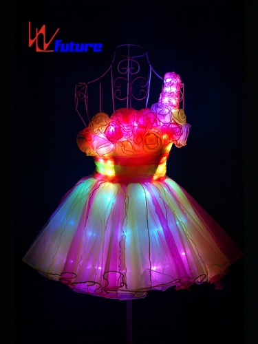 Beautiful Sexy LED Short Skirt Costume for Girl Party WL-0142