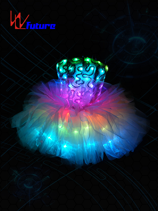 One of Hottest for Led Dmx Costumes - Beautiful Sexy LED Short Dress Ballet Tutu for Young Girls WL-0143 – Future Creative