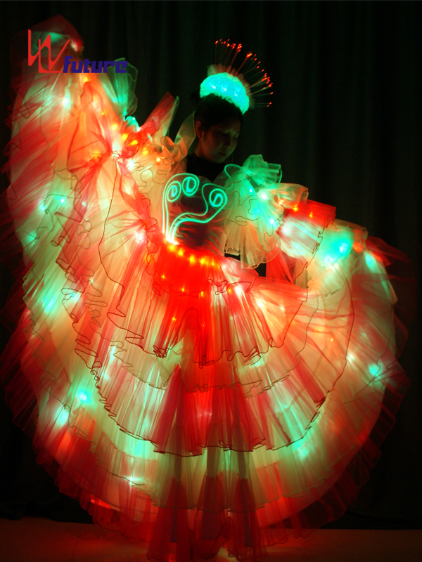 OEM/ODM Supplier Light Up Tron Suit - Spanish style LED dress costume for parade floats show WL-0173 – Future Creative