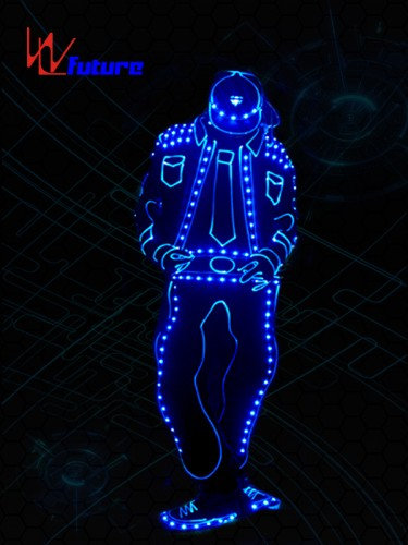 Future Wireless Control Got Talent Show LED Light Tron Dance Costume WL-0194A
