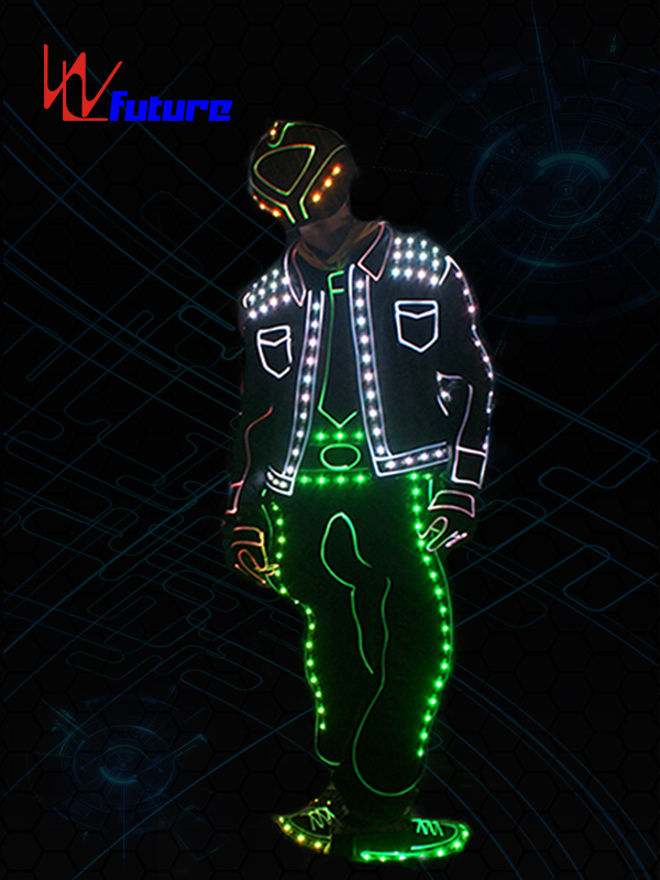 Low price for Led Skeleton Costumes - High Quality New Fashion LED Clothes Luminous Costumes Glowing Gloves Shoes Light Clothing Men Masks – Future Creative