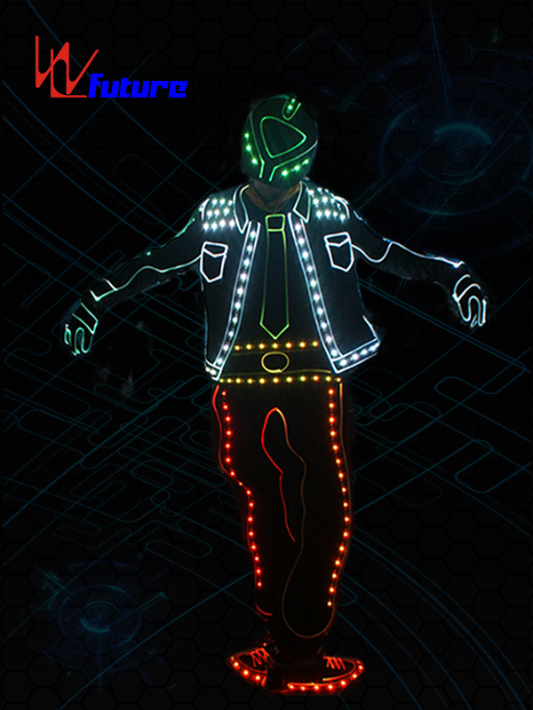 Cheapest Factory Flexible Led Strip For Clothing - New Style Got talent show wireless controlled LED tron dance costume WL-0194B – Future Creative