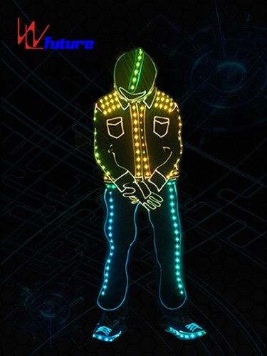 New Style Got talent show wireless controlled LED tron dance costume WL-0194B
