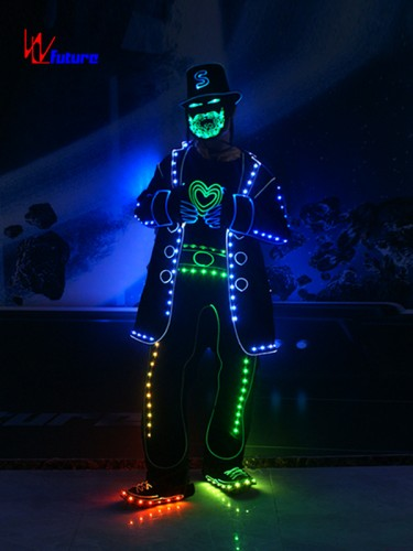 New style Got talent show LED bearded man costume WL-0195A