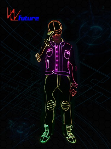 Fashionable LED & Fiber Optic Tron Dance Suit Glowing Costume WL-0204