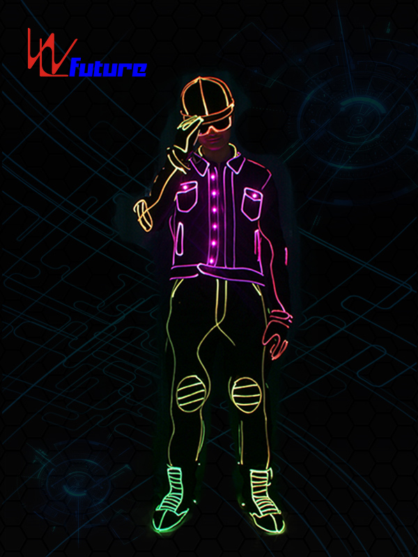 Low price for Led Skeleton Costumes - Fashionable LED & fiber optic tron dance suit glowing costume WL-0204 – Future Creative