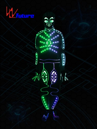 Fashion LED & Fiber Optic Tron Dance Costume With Mask WL-0217