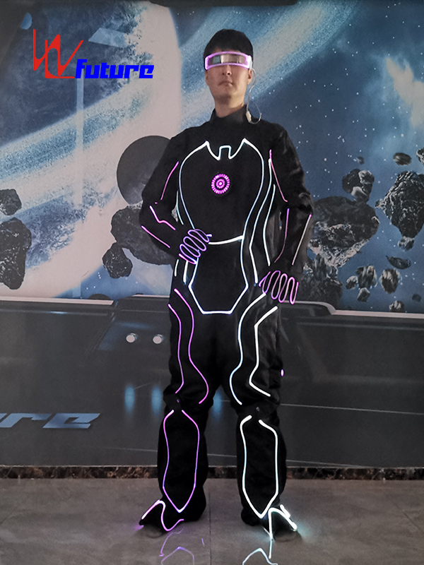 TRON Dance LED Light Up Suit, Fiber Optic Costume For Group Dance WL-0273 Featured Image