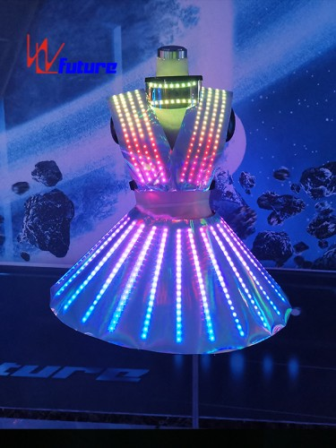 Future Pixel LED Dance Dress Costumes For Big Event Show WL-0274