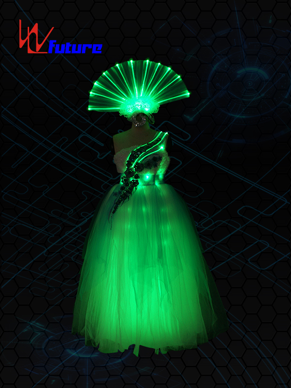 New Fashion Design for Led Rave Costumes - Rainbow LED&Fiber Optic Dress WL-0174 – Future Creative detail pictures