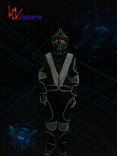 Glow in the dark halloween costumes with mask WL-037