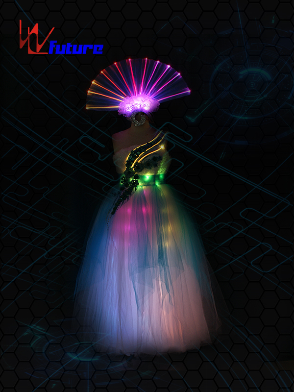 Best Price for Glow Cosplay Costume - Rainbow LED&Fiber Optic Dress WL-0174 – Future Creative