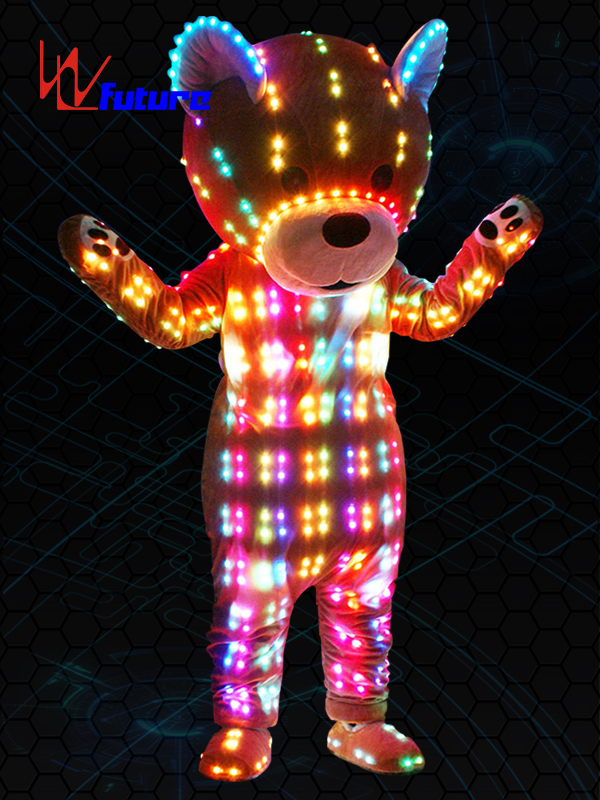 Chinese wholesale Led Strip For Clothing - Custom Cartoon Mascot LED Teddy Bear Costume LED dance accesories WL-0228  – Future Creative