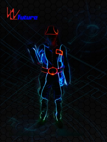 Safety Light up Fiber optic Costume with Hat WL-065