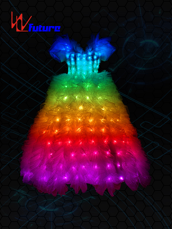 Discount Price Light Up Suit Dancers - Full color LED Wedding Dress Costume WL-022 – Future Creative