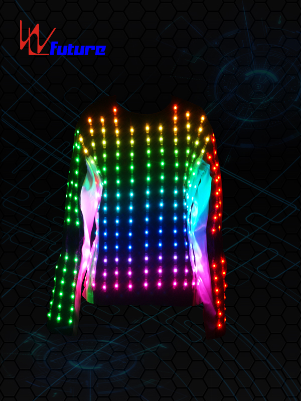 OEM Manufacturer Led Lights On Costumes - Full color LED Pixel T-shirt Costume WL-077 – Future Creative