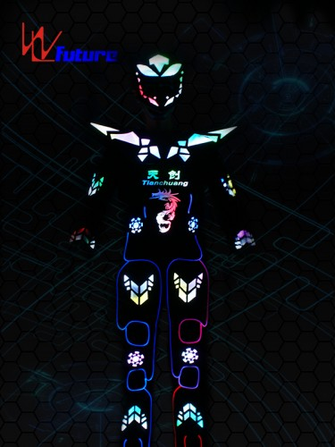 Professional China Avid Guetta LED Robot Costume EL Wire Clothing LED Suit LED Dress