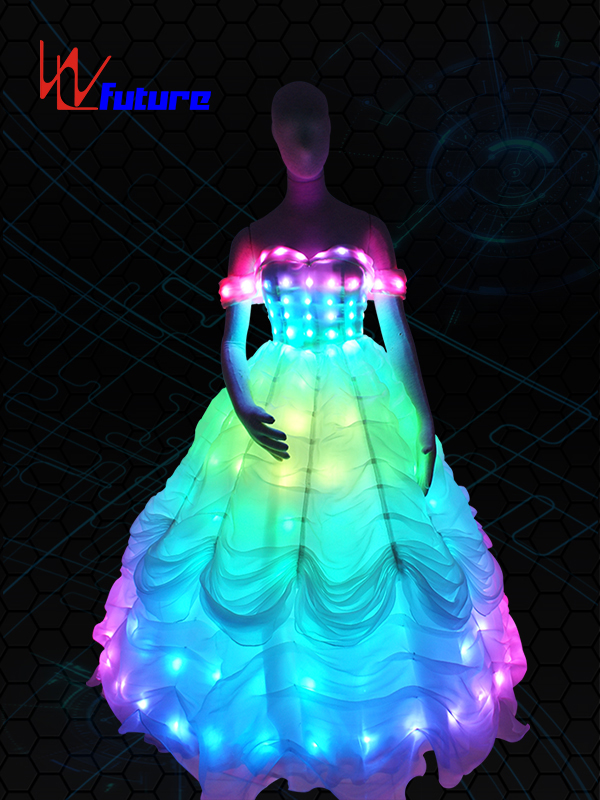 Manufactur standard Carnival Dance Costume - LED Light up Wedding Dress WL-056 – Future Creative detail pictures