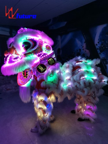 Chinese traditional handicraft LED lion dance costume for show WL-0259