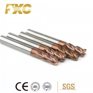 carbide end mill HRC55 4flutes