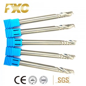 Well-designed Solid Carbide Single Flute End Mill 1f Spiral Flute Milling Cutter For Aluminum Cutting