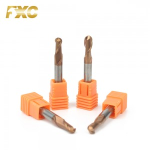 HRC55 2 Flutes Carbide Ball Nose End Mill Diamond Cutting Tools