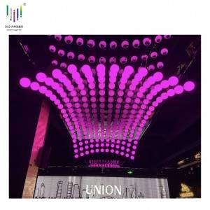 Motorized Led Kinetic Ball High Quality Led Lift Ball China Kinetic Light Mapping OEM Dmx Winch Led Lift Ball