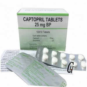 Antithypertensive Captopril Tablets 25 mg