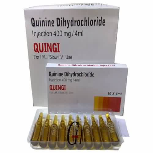Quinine Dihydrochloride Injection 400mg/4ml