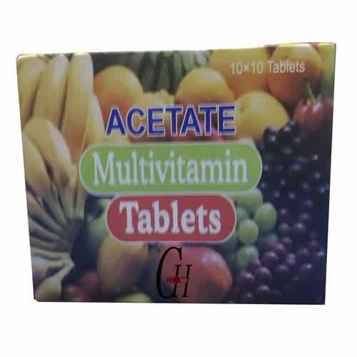 Asetaat Multivitamien tablette