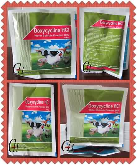 Antibyotik Doxycycline HCL Dlo soluble Powder 50%