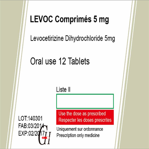 Antihistamines Levocetirizine Dihydrochloride Tablets Featured Image