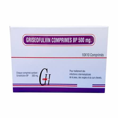 La griseofulvina Tablet BP 500 mg