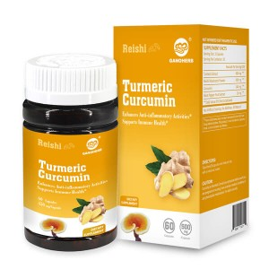 100% Natural Turmeric Root Extract Pudderkapsel