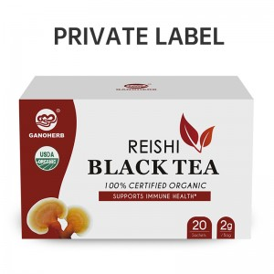 Manufacturer supply Organo Gold Organic Black Tea with Ganoderma lucidum