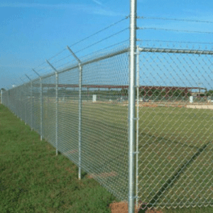 chain link fence temporary security fence