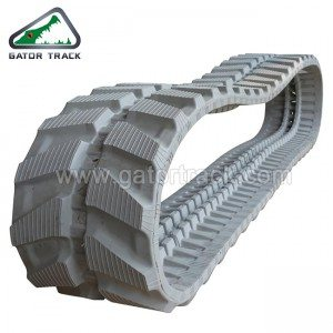 Rubber Tracks 300X52.5 Cor Cinza escavadora Tracks