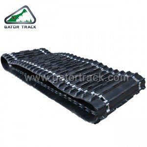 Snowmobile rubber tracks