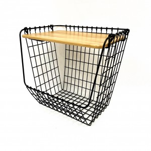 Open Front Utility Nesting Wire Basket