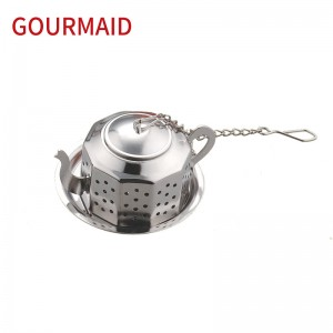 stainless steel teapot shape infuser