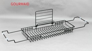 Black Iron Over Tub Caddy