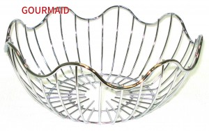 Chrome Plated Steel Wire Fruit Basket