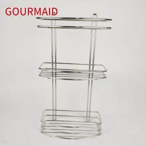 Three Tier Stainless Steel Rectangle Shower Caddy